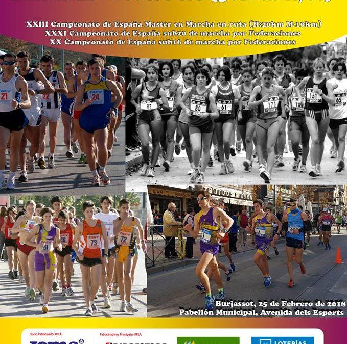 La marcha fuenlabreña, en los primeros puestos de los Campeonatos de España sub-16, sub-20 y máster