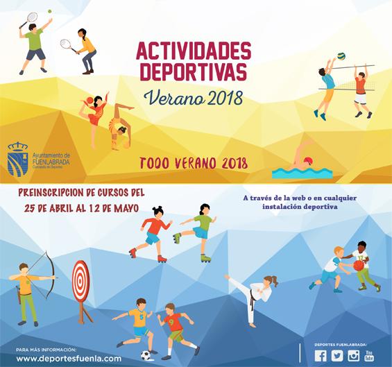 Cartel Actividades Deportivas Verano 2018