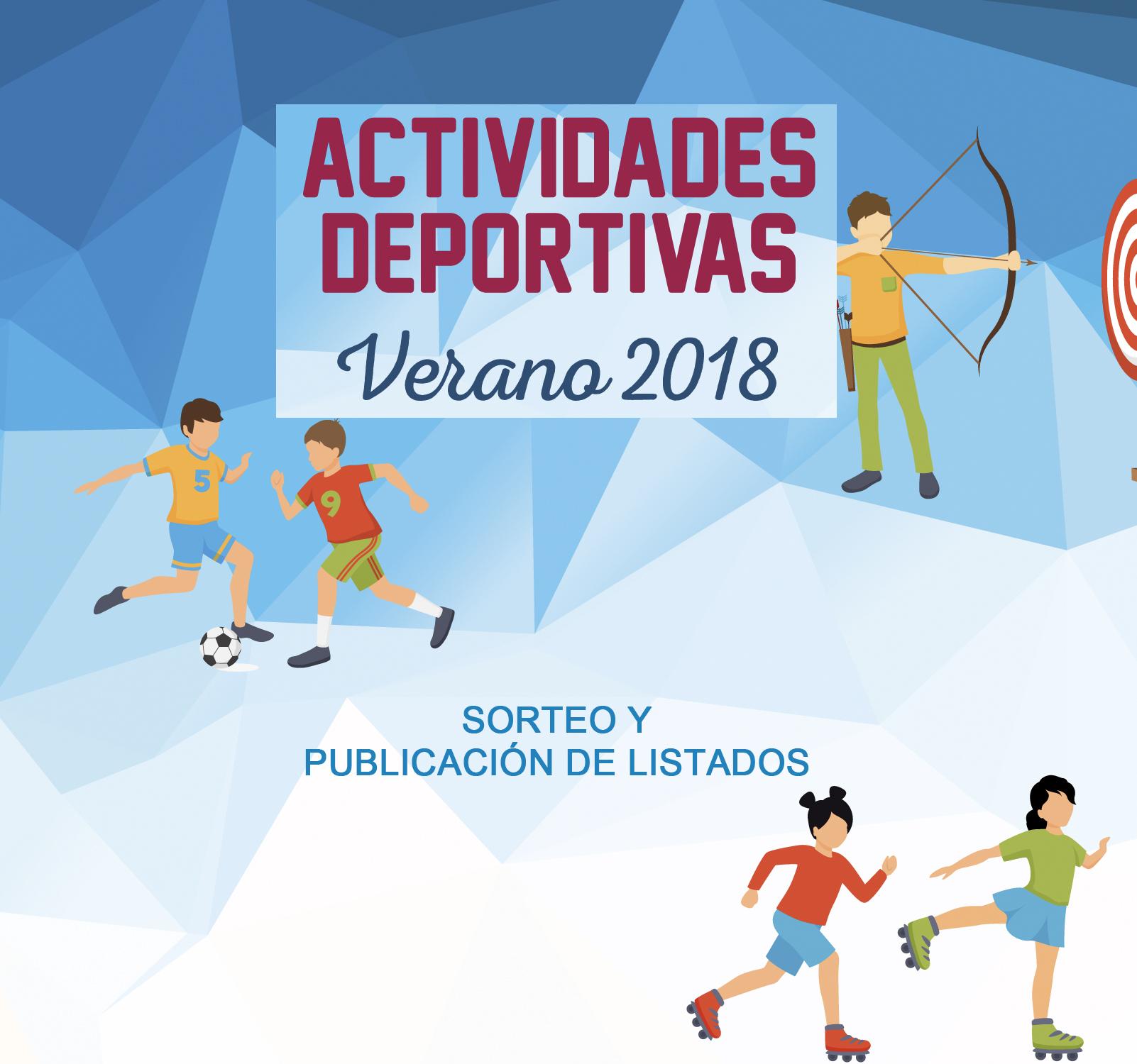 Resultados sorteo Actividades Verano 2018