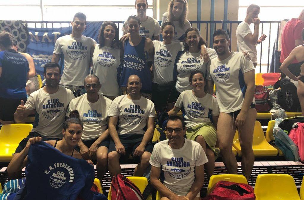 El Club Natación Fuenlabrada consigue el sexto puesto en el Campeonato Máster de Madrid