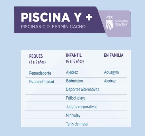 Cartel web Piscina y +