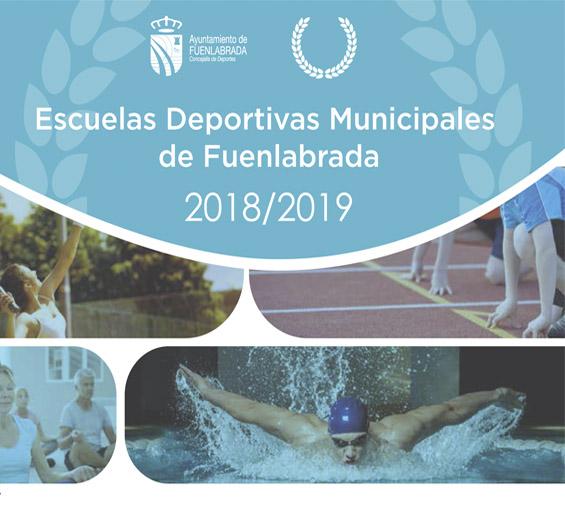 Portada Folleto Escuelas Deportivas Municipales 2018