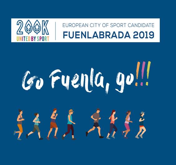 GoFuenlaGo. 200K United By Sport. Fuenlabrada, candidata a Ciudad Europea del Deporte