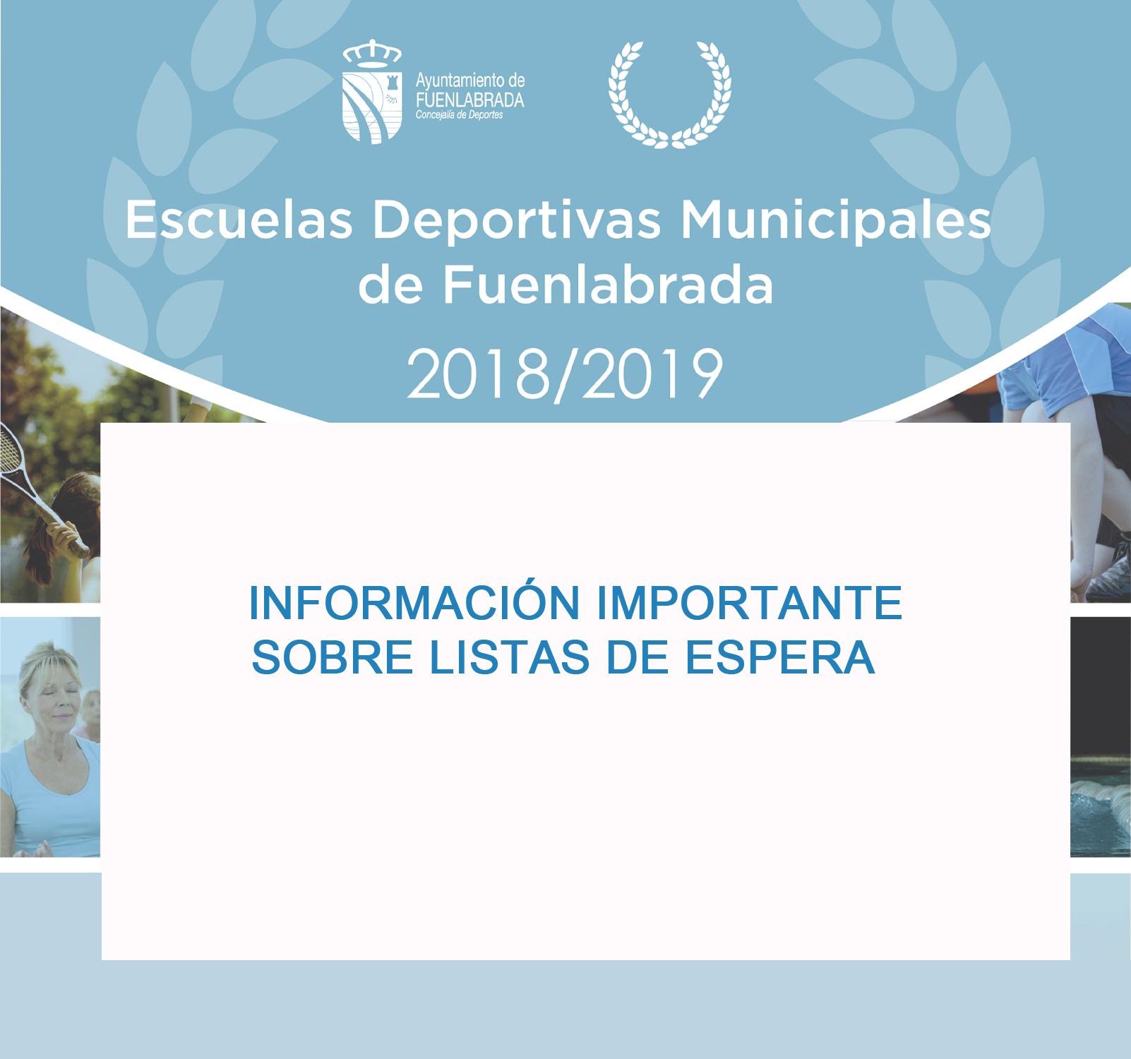 Listas de Espera Curso 2018/2019