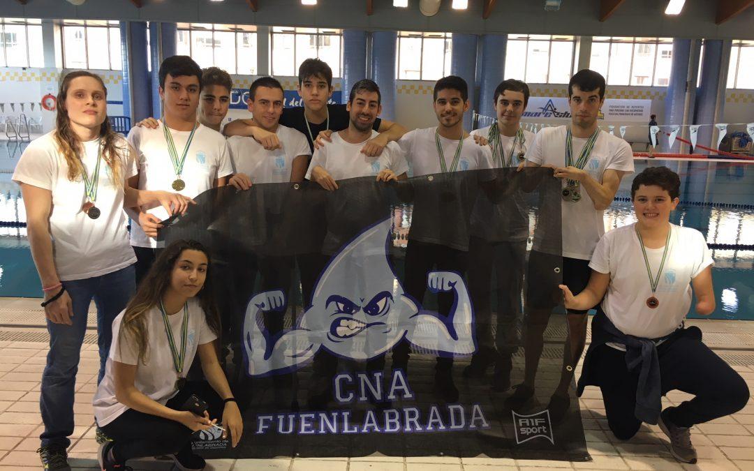 El Club Natación Avanzada Fuenlabrada, segundo en el V Open Mareastur de Oviedo, gracias a sus 18 medallas