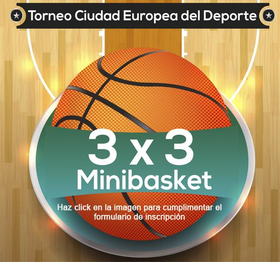 Inscripción Torneo 3x3 Minibasket Ciudad de Fuenlabrada